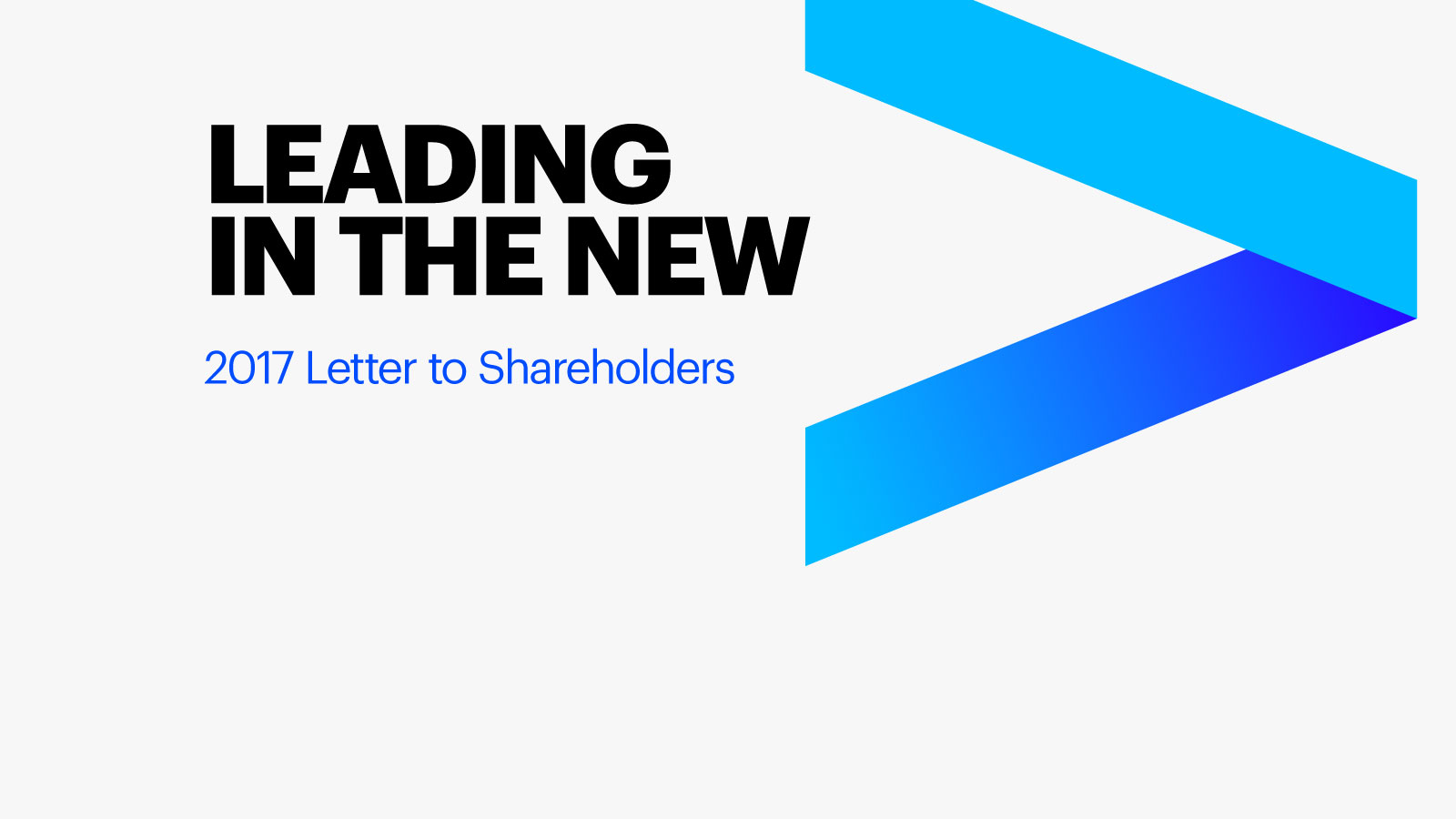 2017 Letter to Our Shareholders Accenture