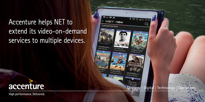 Accenture helps NET to extend its video-on-demand services to multiple devices.
