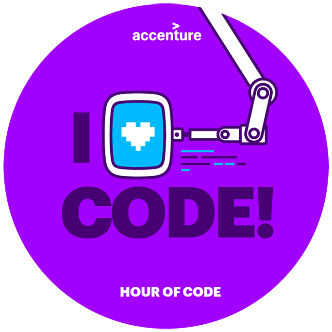 Hour of code. This opens a new window.