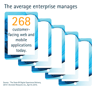The average enterprise manages 268 customer-facing web and mobile applications today.