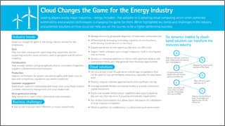 Cloud changes the game for the energy industry