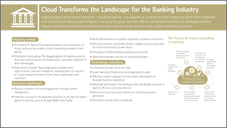 Cloud transforms the landscape for the banking industry