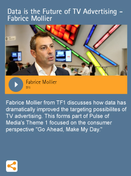 Data is the Future of TV Advertising - Fabrice Mollier