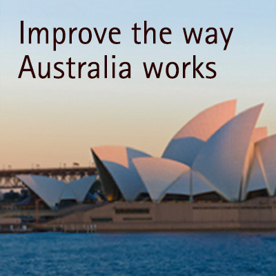 Improve the way Australia works