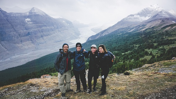 Exploring monumental Rocky Mountain glaciers with three other Aussies who have also never seen so such a large body of ice.