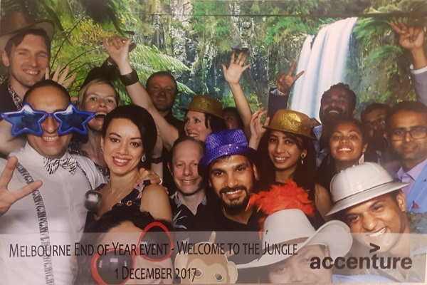 Celebrating with my Accenture colleagues at our annual end-of-year event