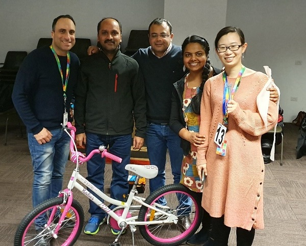 Building bikes for kids in need with Accenture colleagues