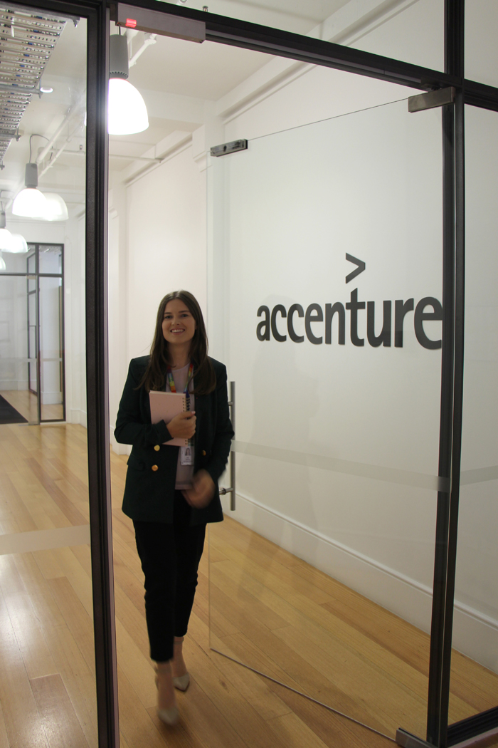 Ella's first day at Accenture
