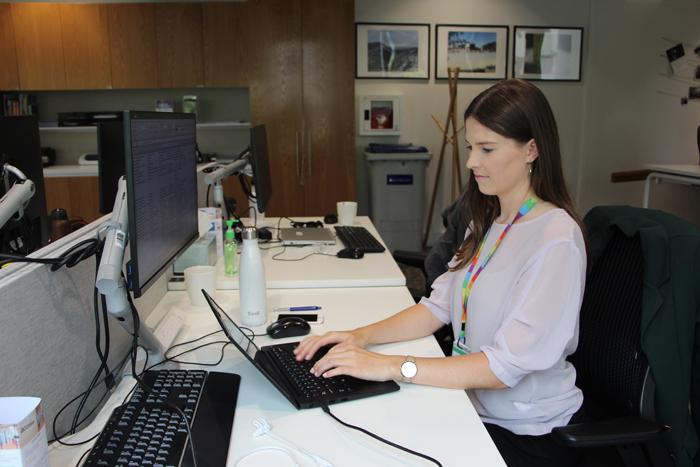Ella's desk