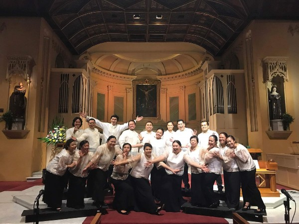 With my fellow Filipino choir members at St Francis Church in Melbourne