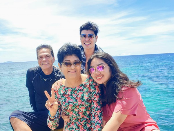 With my family at our vacation in Boracay in the Philippines