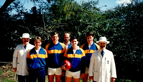 Myself as a footy umpire along with the rest, taken 1992