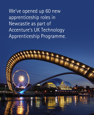 We've opened up 60 new apprenticeship roles in Newcastle as part of Accenture's UK Technology Apprenticeship Programme.