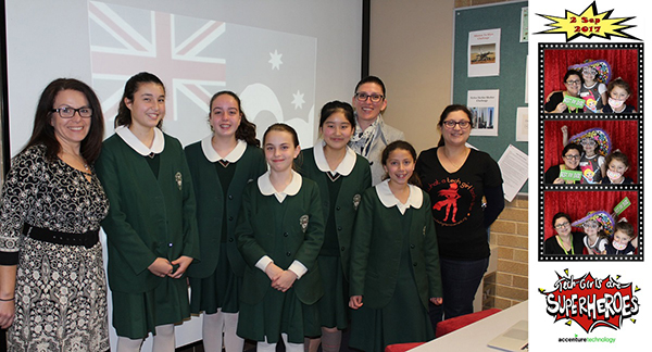 Tech girls students with their instructors