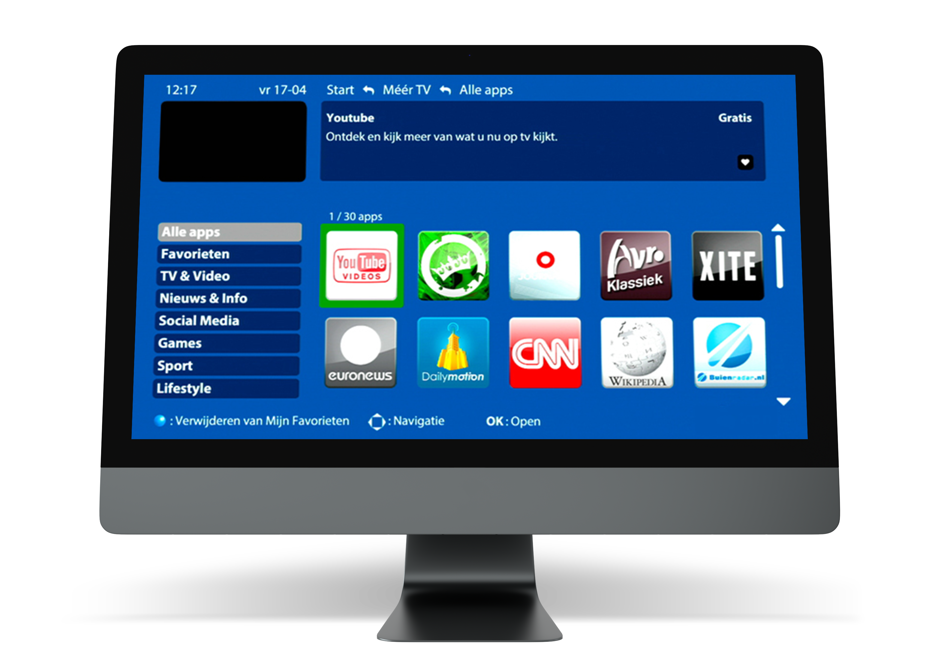 Enhance the IPTV experience with widgets and apps