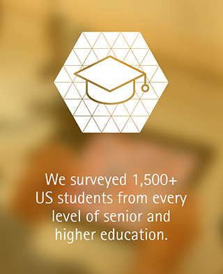 We surveyed 1,500+ US students from every level of senior education.