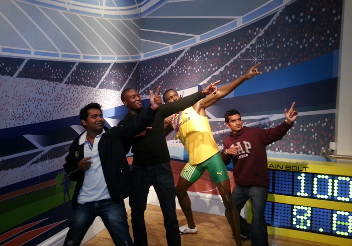 Accenture Team from India at Madame Tussaud