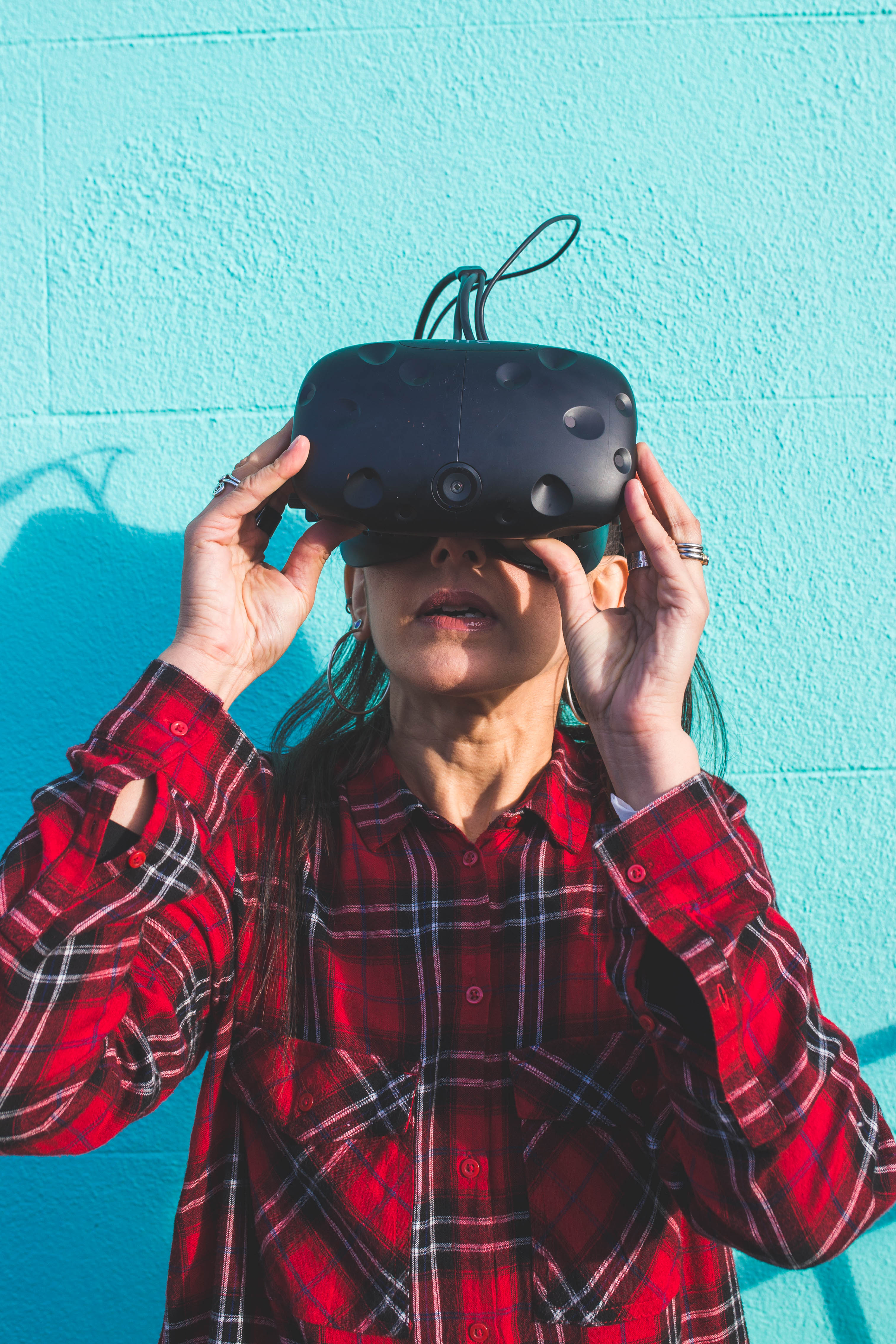 """e5c21c79523 """"When I put the headset on for the virtual reality"""