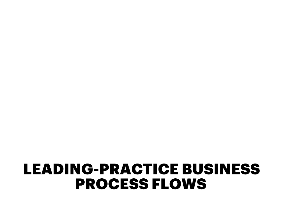 LEADING-PRACTICE BUSINESS PROCESS FLOWS