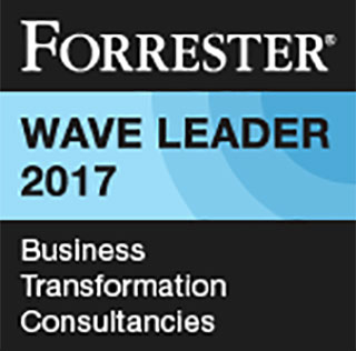 Forrester: Wave Leader 2017 - Business Transformation Consultancies. This opens a new window.