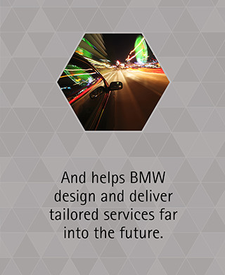 And helps BMW design and deliver tailored services far into the future.