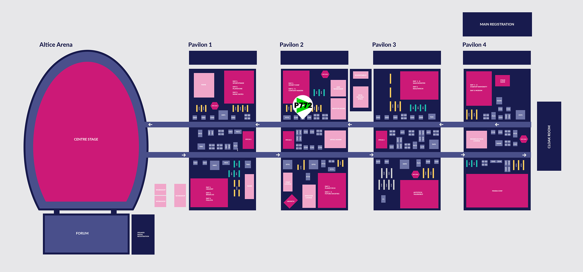 Click here to download the infographic. Web Summit Venue Full Map. This opens a new window.