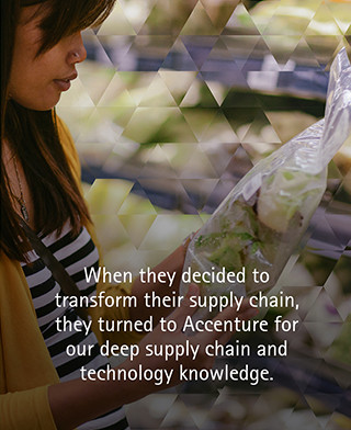 When they decided to transform their supply chain, they turned to Accenture for our deep supply chain and technology knowledge.
