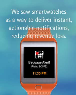 We saw smartwatches as a way to deliver instant, actionable notifications, reducing revenue loss.