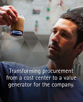 Transforming procurement from a cost center to a value generator for the company.
