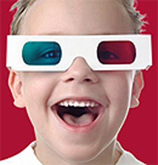 Boy In 3D Glasses