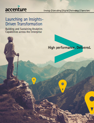 Launching an Insights-Driven Transformation. This opens a new window.