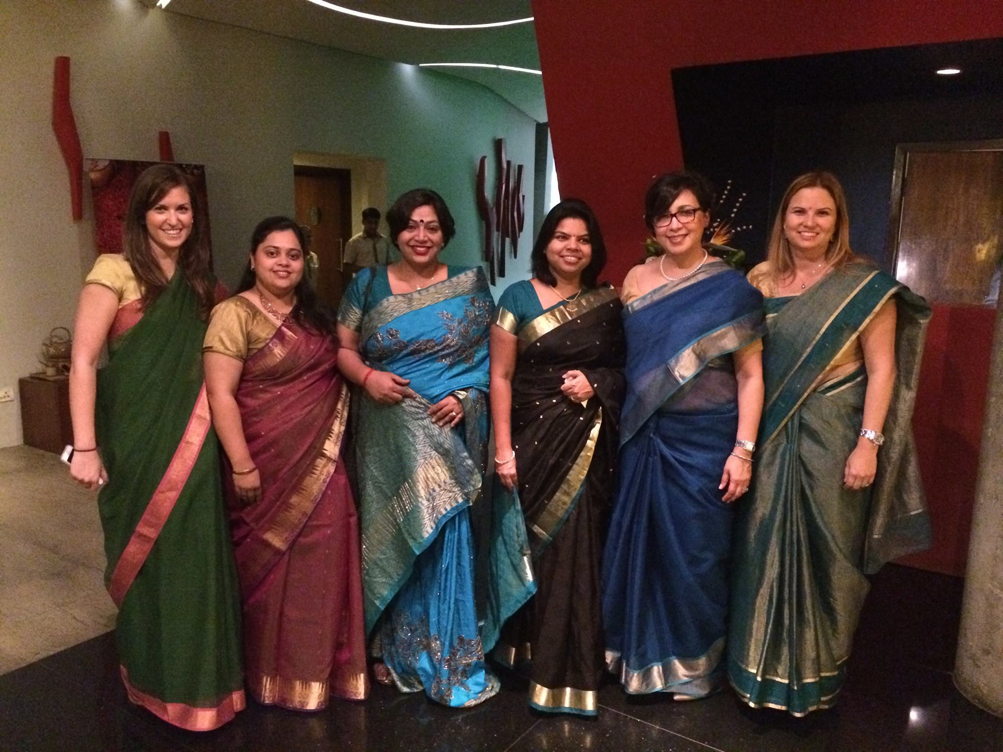 Me, second from right, in India with my Accenture team members and colleagues.