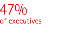 47% of executives cite efficiency issues