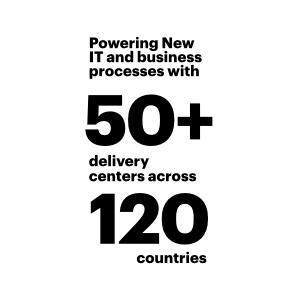 Powering New IT and business process with 50+ delivery centers across 120 countries
