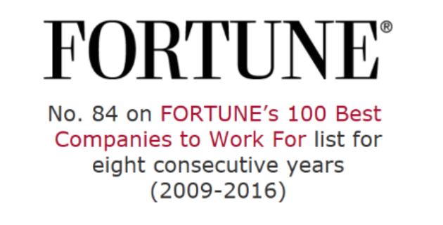 Fortune Top 84 Best Company to Work For