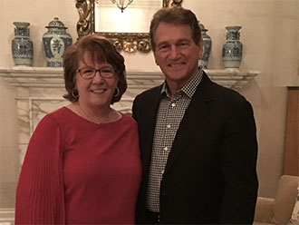 Joe Theismann and Accenture Managing Director Peggy Kostial
