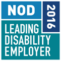 Accenture received the National Organization on Disability (NOD) 2016 Disability Employer Seal of Approval