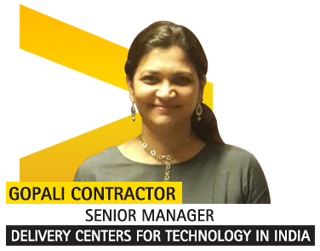 Gopali Contractor. Senior Manager – Delivery Centers for Technology in India