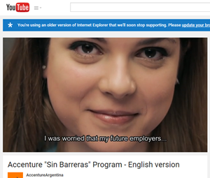 Accenture Sin Barreras Program