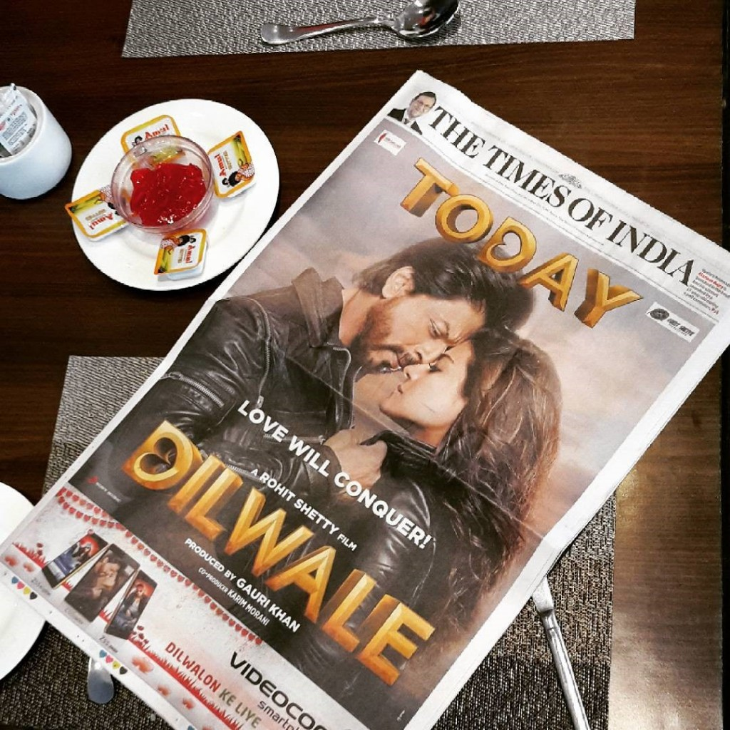 A Bollywood production Dilwale had its premiere the same day as the latest Star Wars movie. When the rest of the world was buzzing about Star Wars, guess which one got more media space and screenings in India?