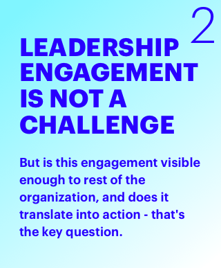 Leadership Engagement is not a challenge