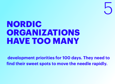 Nordic Organizations have too many