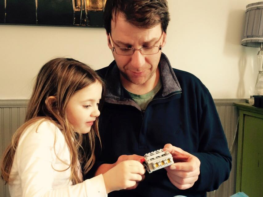 My daughter, Meredith, and husband, Mark, building Lego together