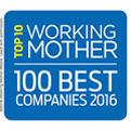 Top 10 on Working Mother's 100 Best Companies, marking 14 consecutive years (2003-2016)
