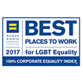 Perfect score on the Human Rights Campaign's (HRC) Corporate Equality Index for ten consecutive years (2008-2017