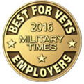G.I. Jobs' Military Friendly Top 100 Employers, marking four consecutive years (2013-2016)