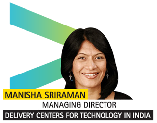 Manisha Sriraman, Managing Director – Delivery Centers for Technology in India