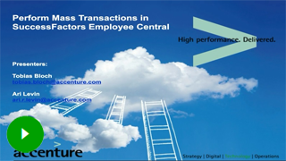 Perform mass transactions in Successfactors Employee Central