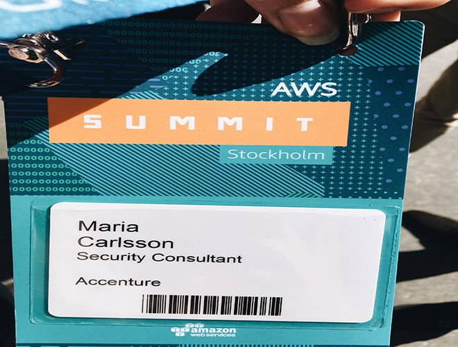 En vecka i en konsults liv: Maria på Amazon Web Services Summit Stockholm!
