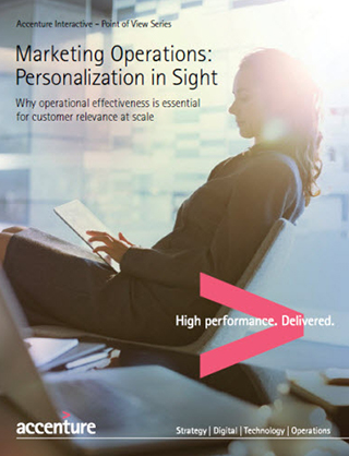 Marketing Operations: Personalization in sight. This opens a new window.